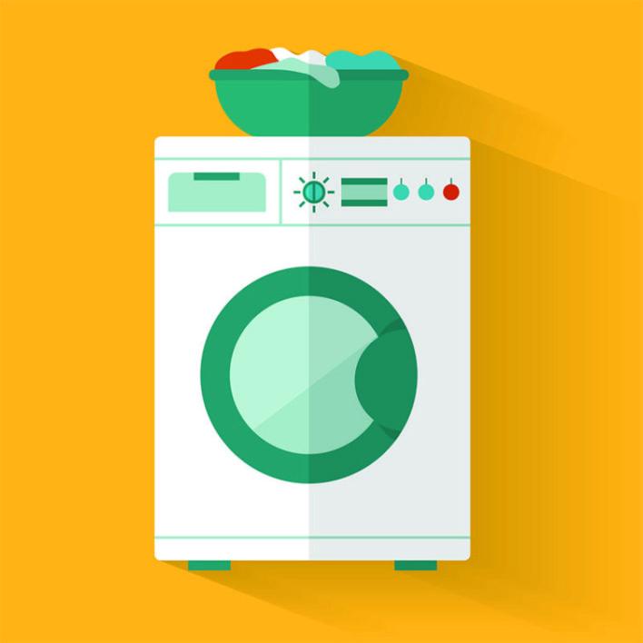 Lavar rede de descanso na máquina de lavar roupas