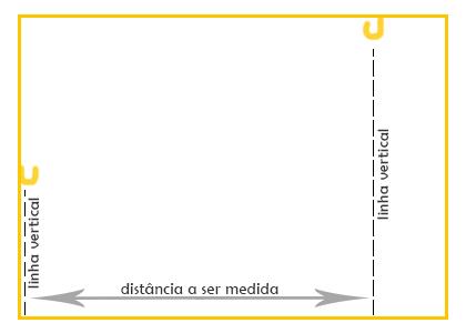 Altura dos ganchos diferentes, como medir