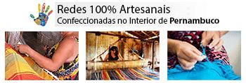 Redes de descanso artesanais sem costuras feitas no interior de Pernambuco